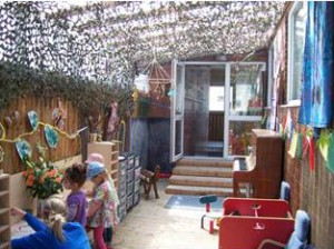 Nursery sheltered play area